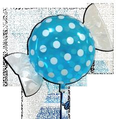 ballon plastique rond forme de bonbon 48 cm bleu bws r. Black Bedroom Furniture Sets. Home Design Ideas